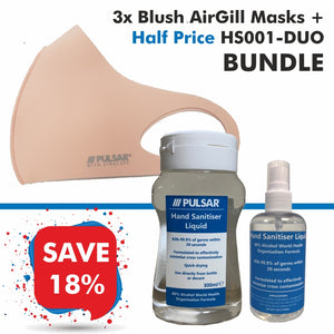 3 Blush AirGill Face Masks + Half Price HS001-DUO