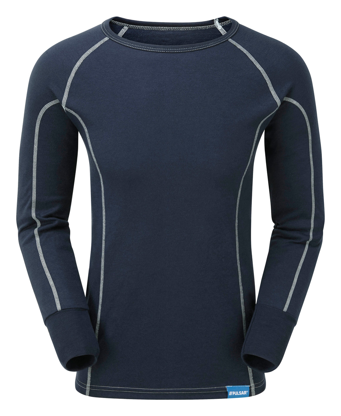 a front shot of the PULSAR Blizzard men's long sleeve thermal base layer