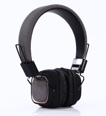 OPTA BH004 On-Ear 2 in 1 Foldable Headsets With Microphone + Noise reduction + HD Deep Bass + Stereo Hi Fi + Bluetooth 4.2+ Wireless/ Wired - Grey