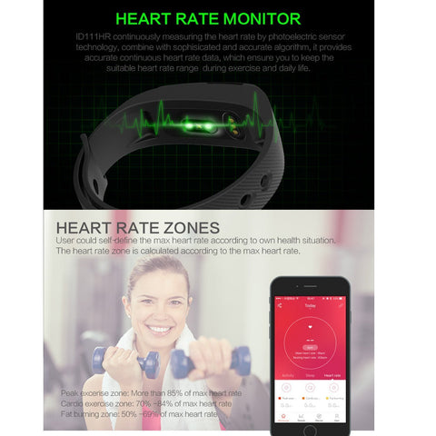 Opta SW-014 Black Bluetooth Heart Rate Sensor Smart Band And Fitness Tracker For Android/IOS Mobile Phones