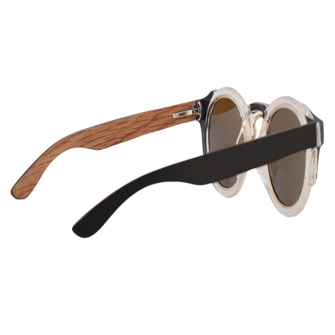 OPTA SG-010 Round Polarized Oak Wood Sunglasses