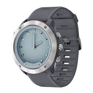 OPTA-SB-066-Vivomove Hybrid 2 in 1 Digital and Analog display + Heart Rate Monitor + Fitness Tracker Bluetooth Fitness Smartwatch for Android and iOS Smartphones for Unisex(Silver Dial with Grey Strap)