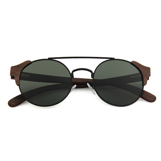 OPTA SG-048 Cateye Polarized Skateboard Ebony Wood Sunglasses