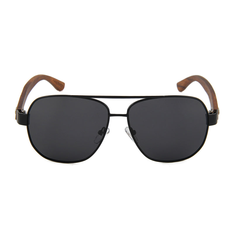 OPTA SG-027 Wayfarers Polarized Ebony Wood Sunglasses