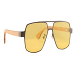 OPTA SG-016 Square Designer Polarized Beech wood Sunglasses with 100% UV Protection for Unisex