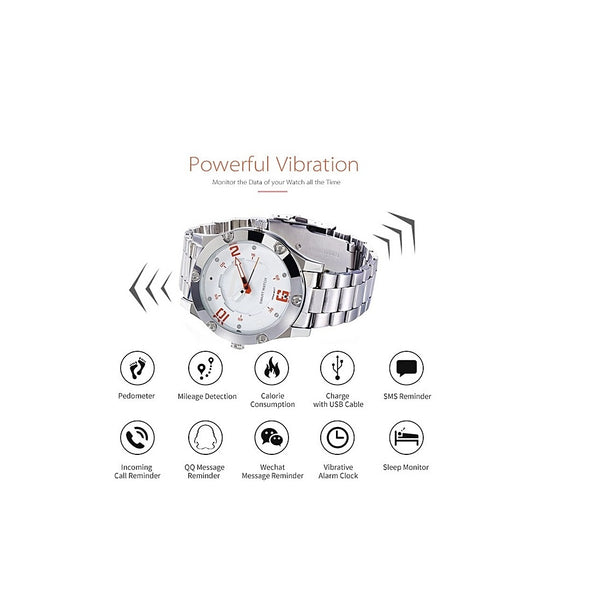 OPTA SW-015 FOXWEAR Bluetooth Analog Smart Watch with Sports Functions & USB Charging for All Andriod/iOS Smartphones