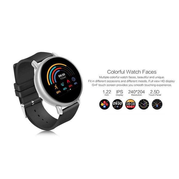 OPTA SB-126 Bluetooth Wearable Technology IPS Color Display Heart Rate Fitness Band+ All-in-One Activity Tracker Smart Watch Compatible with Android/iOS Smart Phones
