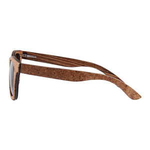 OPTA SG-033 Wayfarers Polarized Skateboard Wood cork zebra interbedded Sunglasses