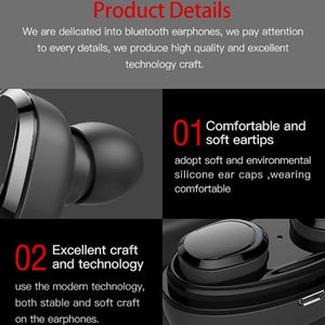 OPTA-BH008 TWS Mini Bluetooth Earbud, Wireless Headphone with Mic