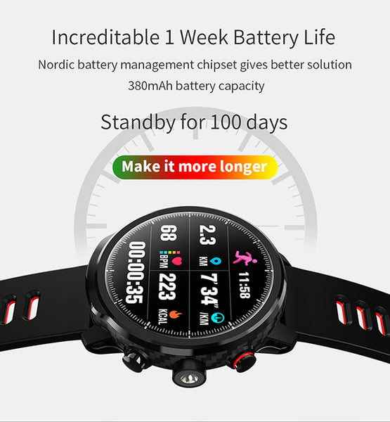 OPTA-SB-102 Bluetooth Fitness Smartwatch for Android and iOS Smartphones for Unisex