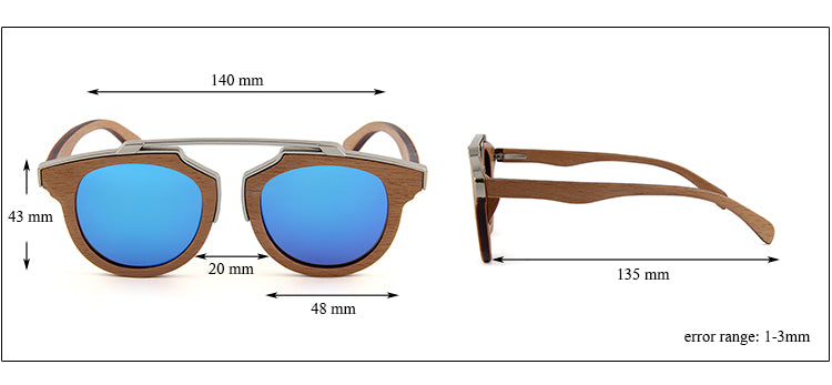 OPTA SG-045 Cateye Polarized Skateboard Zebra Wood Sunglasses