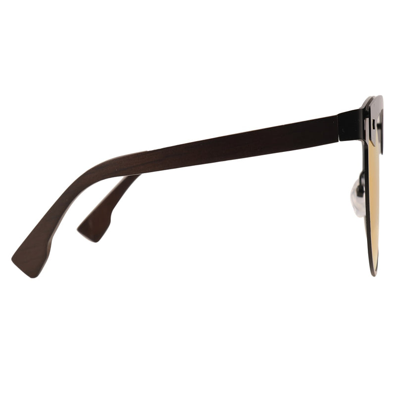 OPTA SG-015 Clubmaster Polarized Ebony wood Sunglasses