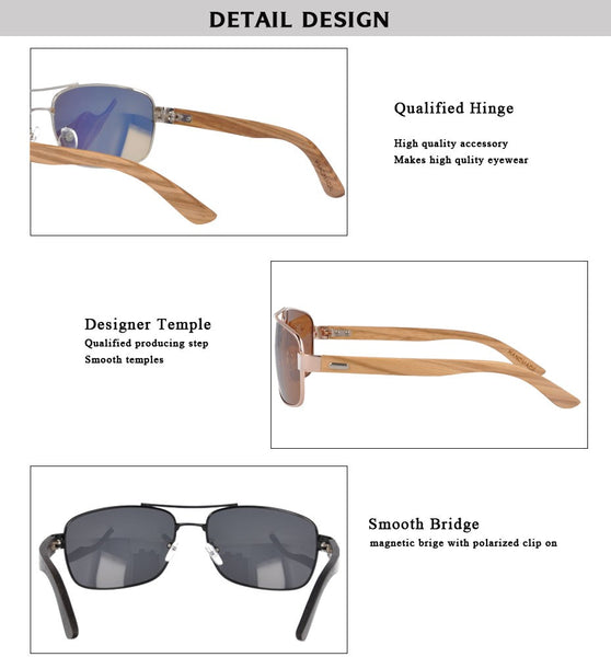 OPTA SG-026 Geometric Designer Polarized Ebony Wood Sunglasses with 100% UV Protection for Unisex (Ebony Wood with Mirror Red Lens)
