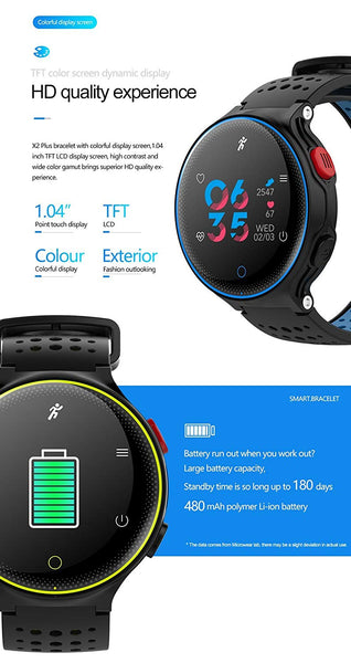 OPTA SB-052 O-RUNNER WATCH | HD Color Display Bluetooth Fitness Smartwatch | Multi-Sport Mode & All-in-One Activity Tracker | Blood Pressure| Heart Rate | Sleep Monitor | smart band compatible with Android / IOS Smart phones for Men Women Teens