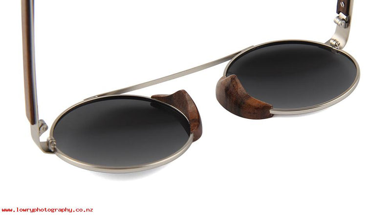 OPTA SG-050 Round Polarized Skateboard Wood Sunglasses