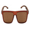 OPTA SG-011 Wayfarers Polarized Bamboo Wood Sunglasses