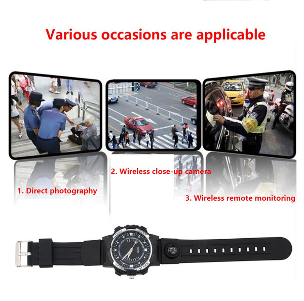 OPTA SW-013 SHADOW Analog Spy Camera Smartwatch with Night Vision /WiFi/ 720P /compass/ Dual Time Zones / G Sensor / Camera Control