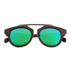 OPTA SG-044 Cateye Polarized Skateboard Zebra Wood Sunglasses