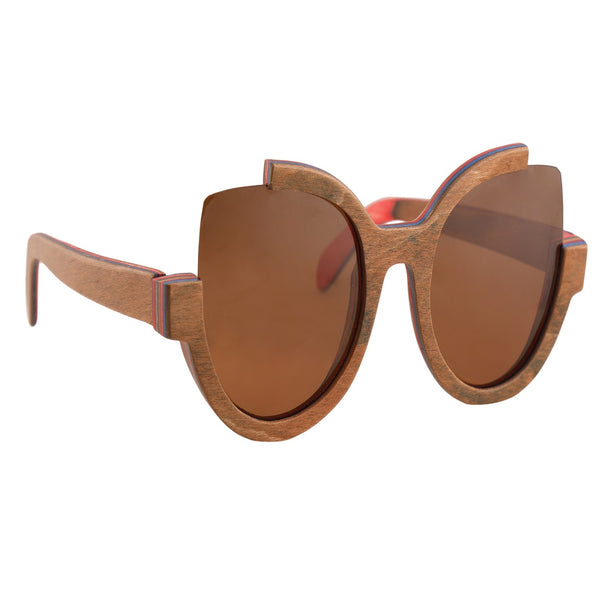 OPTA SG-020 Cat Eye Designer Polarized Bamboo Sunglasses with 100% UV Protection for Unisex