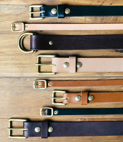 Premium English bridle leather belts, made in USA