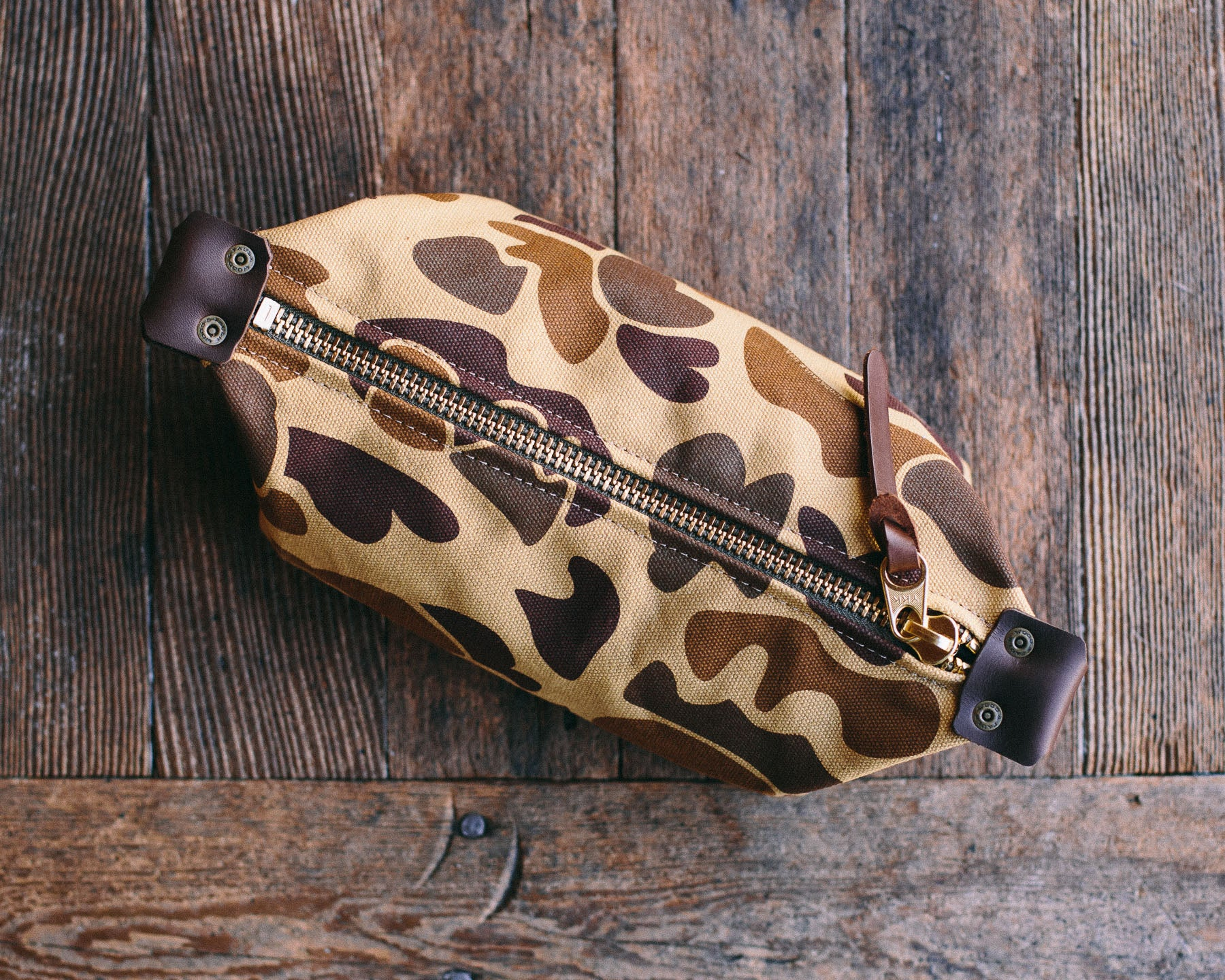 Wood&Faulk Duck Camouflage Traveler Dopp Kit
