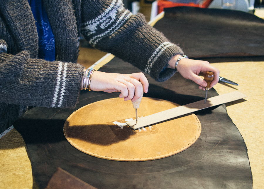 Once Marked, Cut Your Circle With Scissors Or A Knife. When Adhering  Leather To Wood, Contact Cement Works Great. Use The Dry Method, Which Is  To Apply A ...