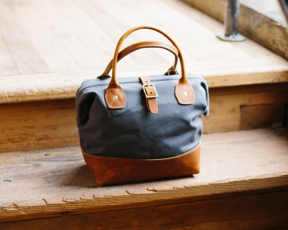 Sidecar Bag from Wood and Faulk, Canvas and Leather
