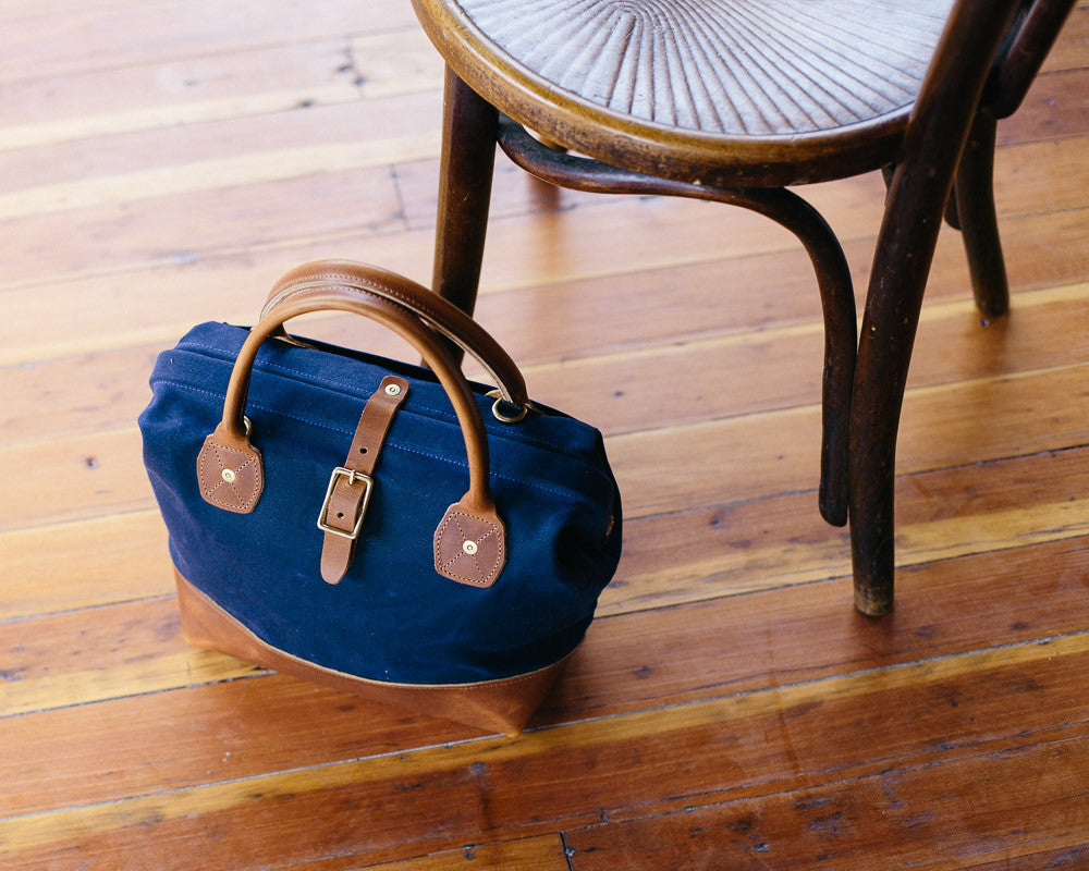 The Classic Navy W&F Sidecar Bag