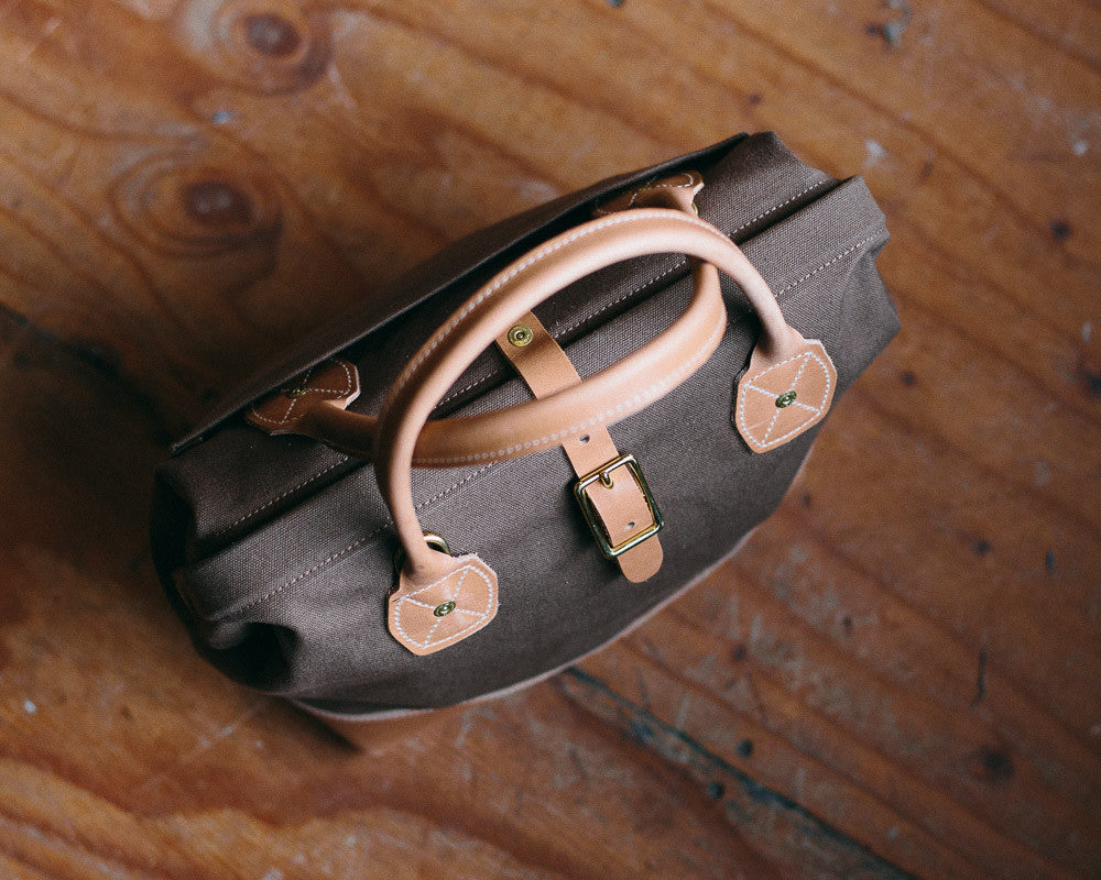 The Sidecar bag in Tobacco canvas