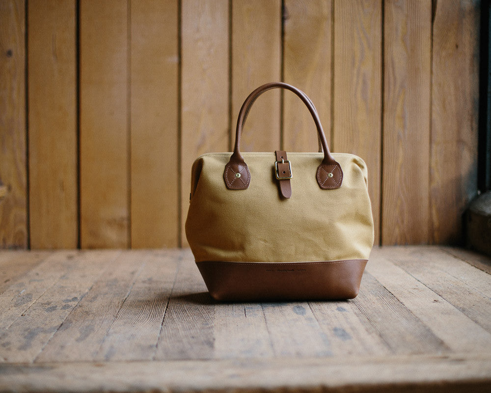 Wood and Faulk Tote, Canvas and Leather