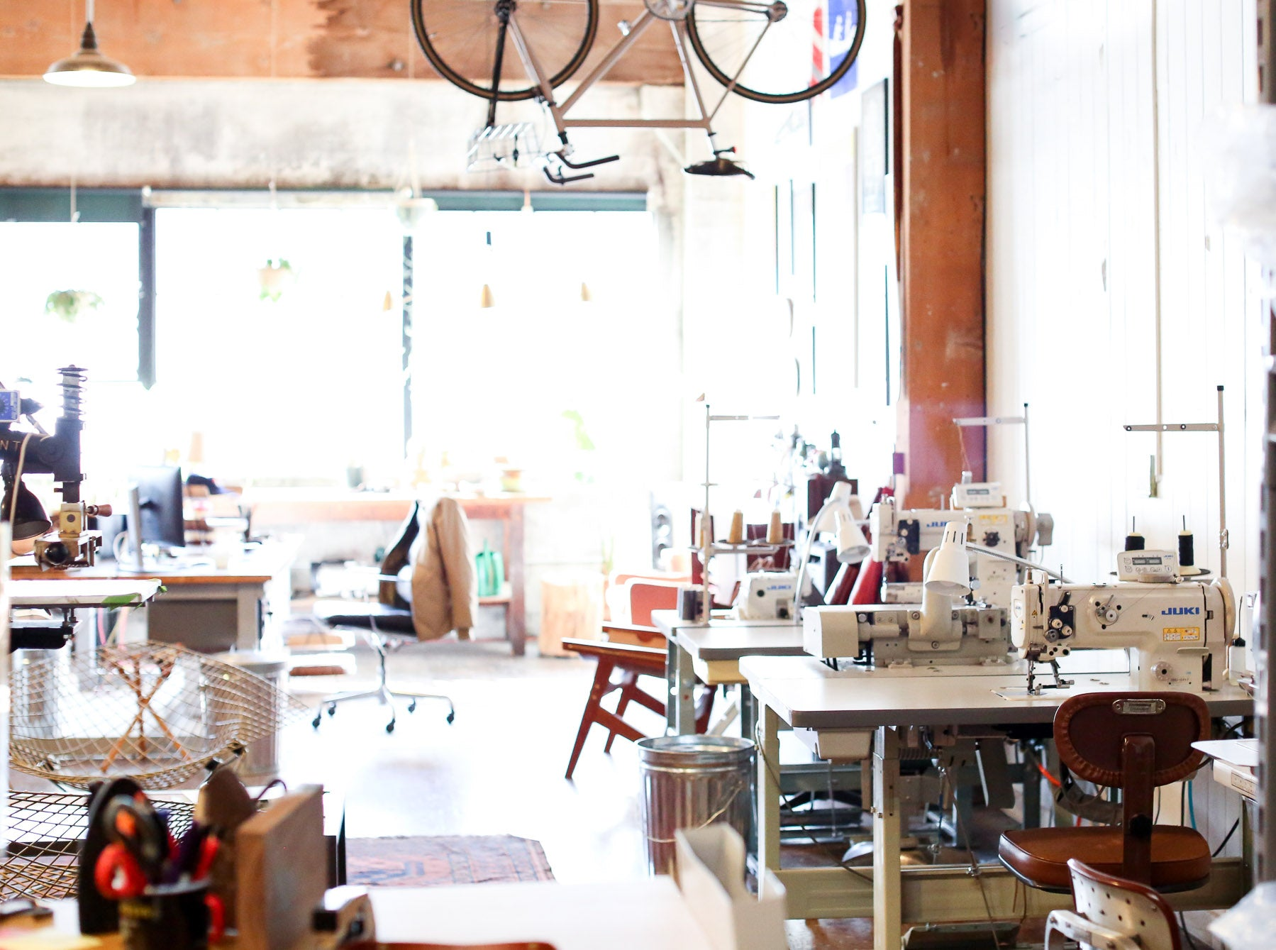 Leatherwork machines in W&F design studio