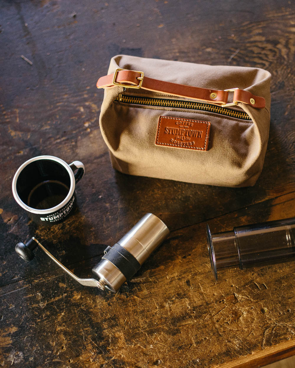Stumptown traveling coffee bag