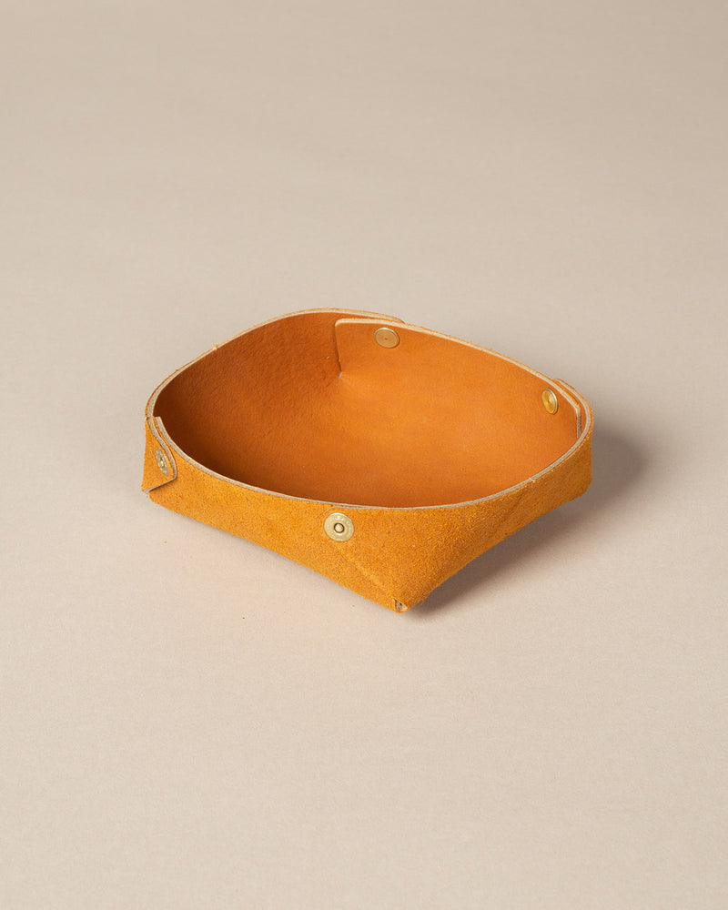Valet Tray, Baseball Mitt Leather