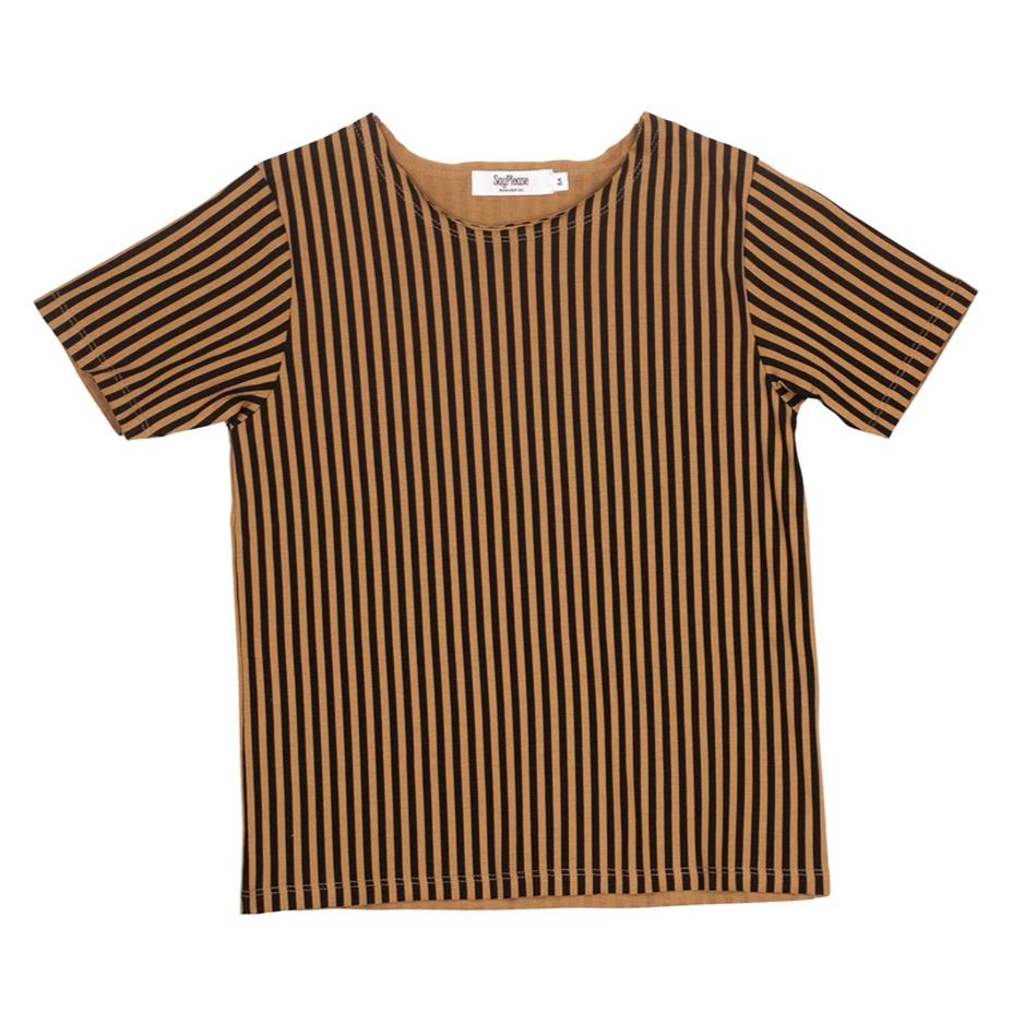 Camiseta Black&Camel stripes