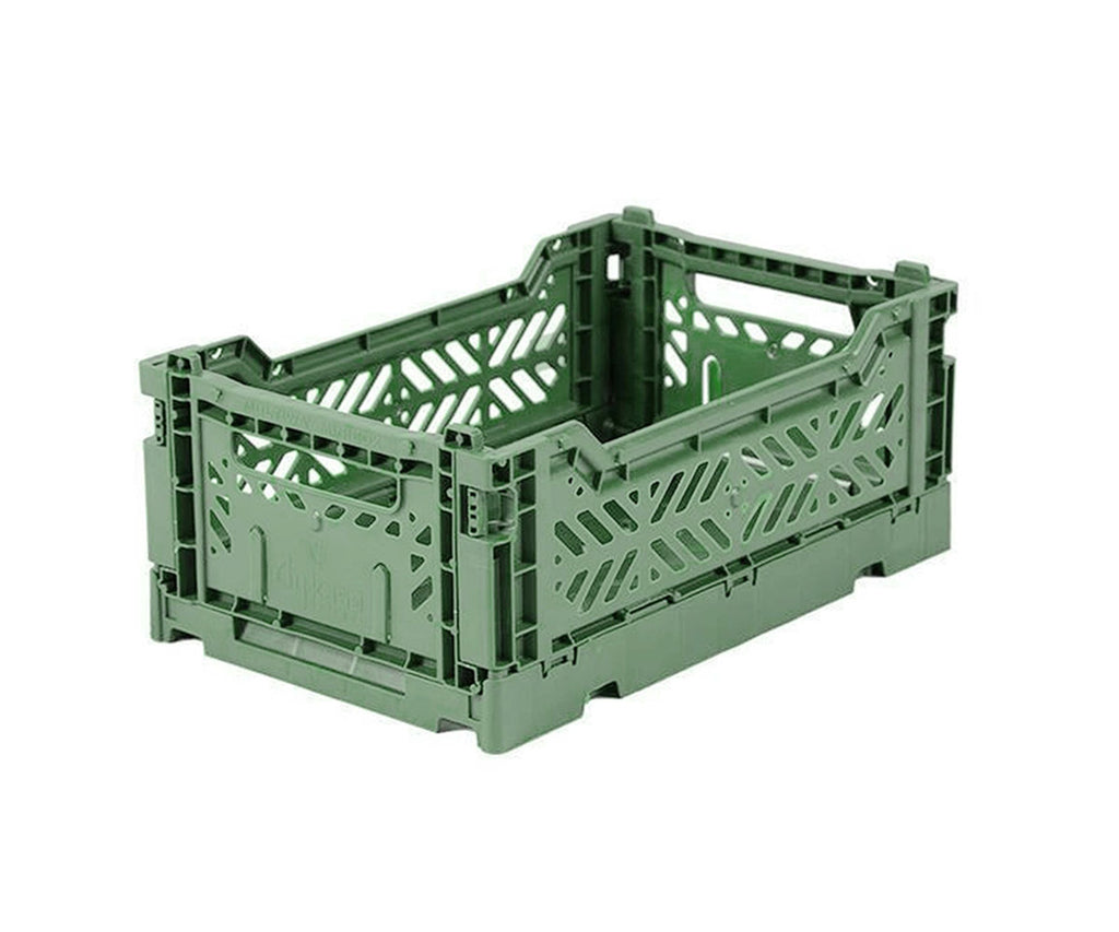Caja Plegable Mini Verde Almendra