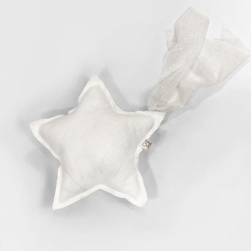 Cojín shooting Star Light Linen White