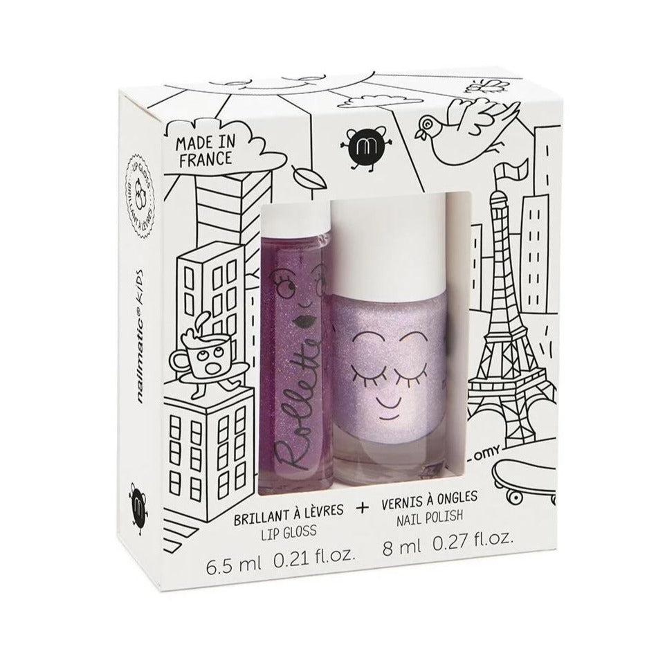 Set pintauñas + gloss Lovelycity