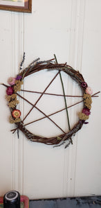 Pentagram Willow Wreath 18""