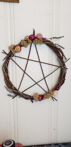 Pentagram Willow Wreath 18