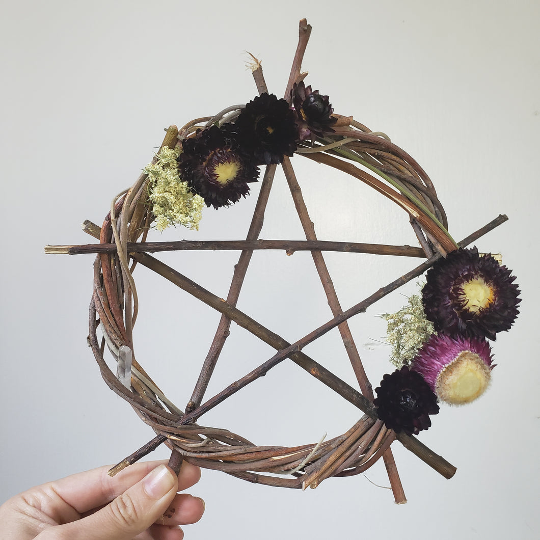 Pentagram Willow Wreath 9