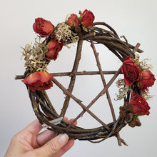 Load image into Gallery viewer, Pentagram Willow Wreath 9""