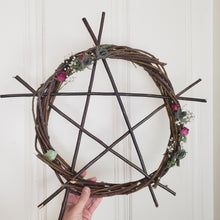 Load image into Gallery viewer, Pentagram Willow Wreath 18""