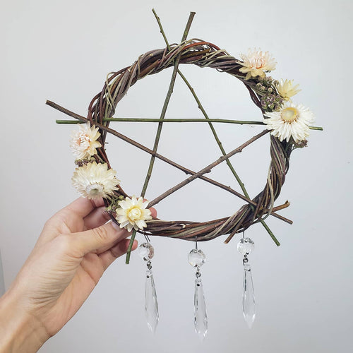 Pentagram Willow Wreath 10