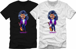 T-Shirt-Freddy Fender Characture-Ahua! Colors: Black / White