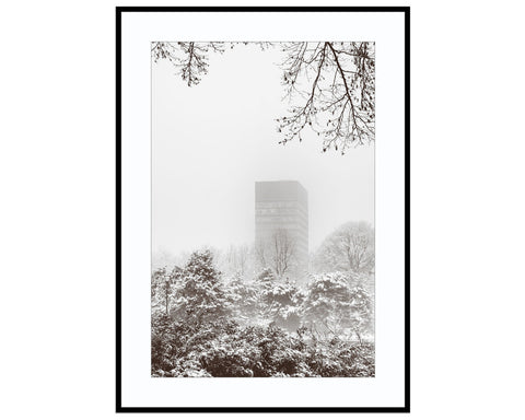 Arts Tower in SnowPhotograph Print Landscape Photography Wall Art by Danscape