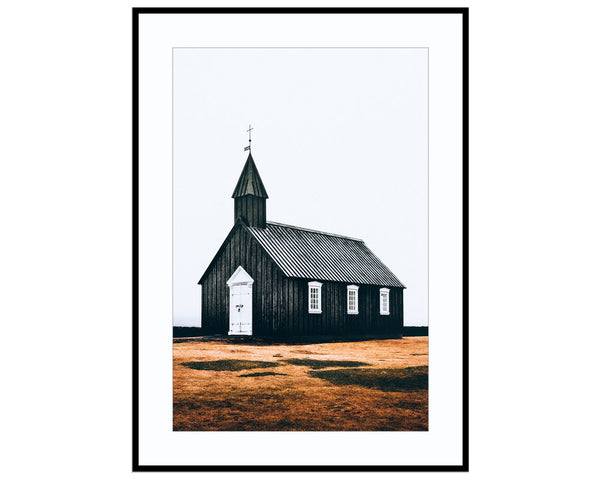 The Black Church of BudirPhotograph Print Landscape Photography Wall Art by Danscape