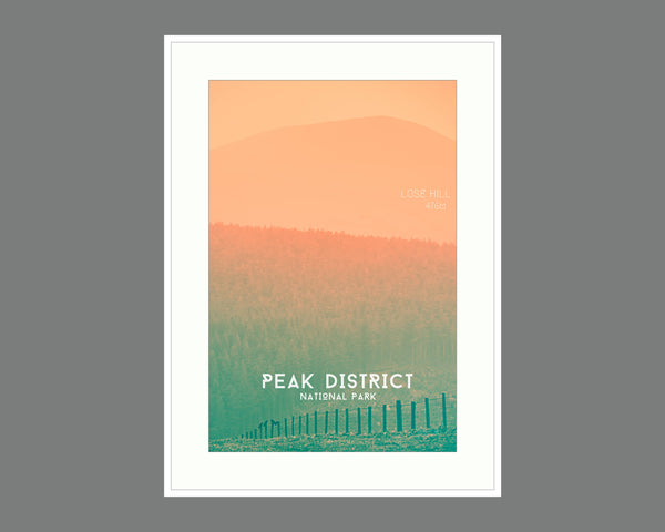Lose Yourself Peak District Poster