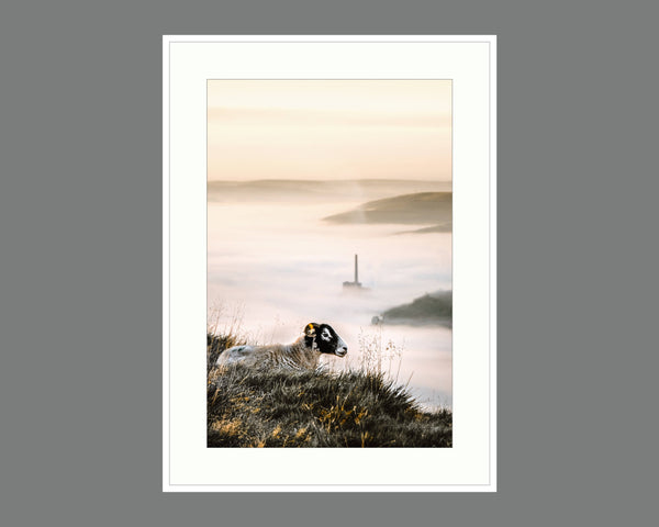morning above the clouds Cloud Inversion Print, Derbyshire Gift, Fine Art Photo, Hope Valley Ce Print (Unframed)