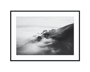Peveril Castle in Black and WhitePhotograph Print Landscape Photography Wall Art by Danscape