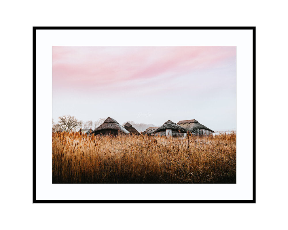 Thatched Boat HousesPhotograph Print Landscape Photography Wall Art by Danscape
